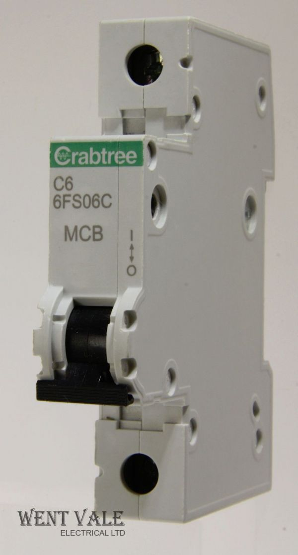 Crabtree Loadstar - 6FS06C - 6a Type C Single Pole MCB Latest Style Used